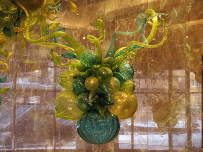 Closeup glass balloons