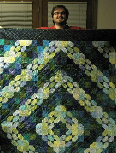 Derek and quilt