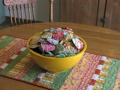 Bowl of yo-yos