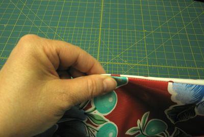 Oilcloth seam