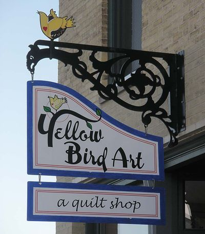 Yellow bird sign