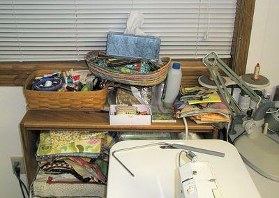 Messy shelf