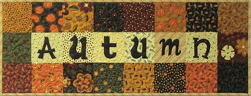 Autumn charm squares